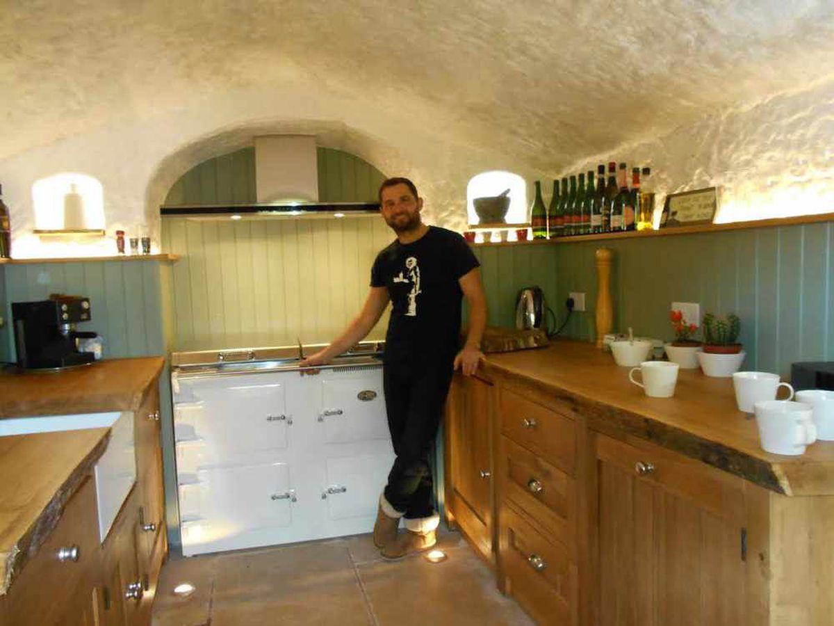 Angelo Mastropietro in the kitchen