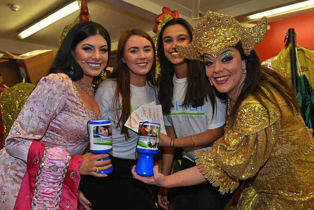 Wolverhampton Grand in money and ticket donation to charity