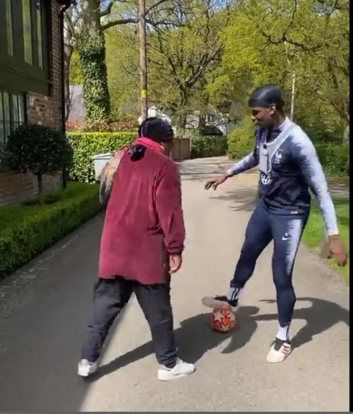 Paul Pogba wearing the vest during the Instagram video