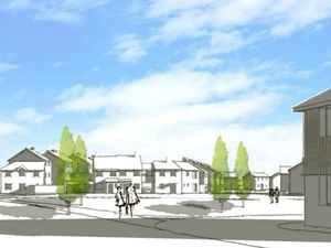 An artist impression of how the proposed housing could look on Goscote Lane. PIC: St Francis Group