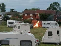 Fury at travellers' police escort from Staffordshire to Black Country