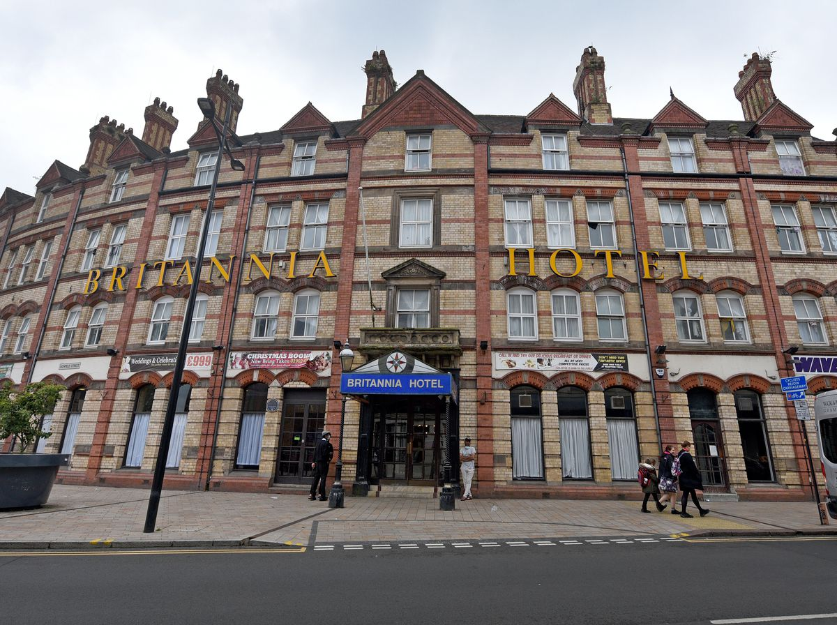 The Britannia Hotel, where asylum seekers are being put up