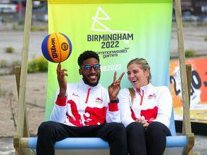 Team England's Jamal Anderson and Georgia Jones at Smithfield