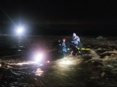 In Video: Dramatic footage shows family rescued from flooded US river
