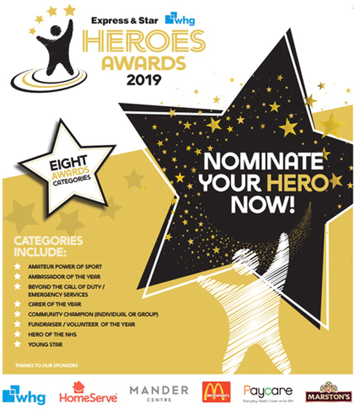 The Express & Star Heroes Awards 2019 have launched