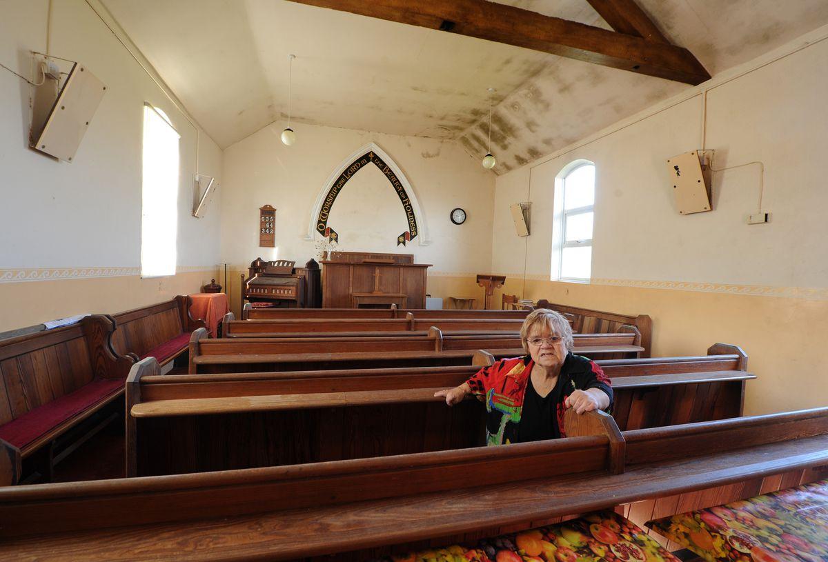 Lifelong Marsh Green Methodist Chapel member and steward Mary Evans