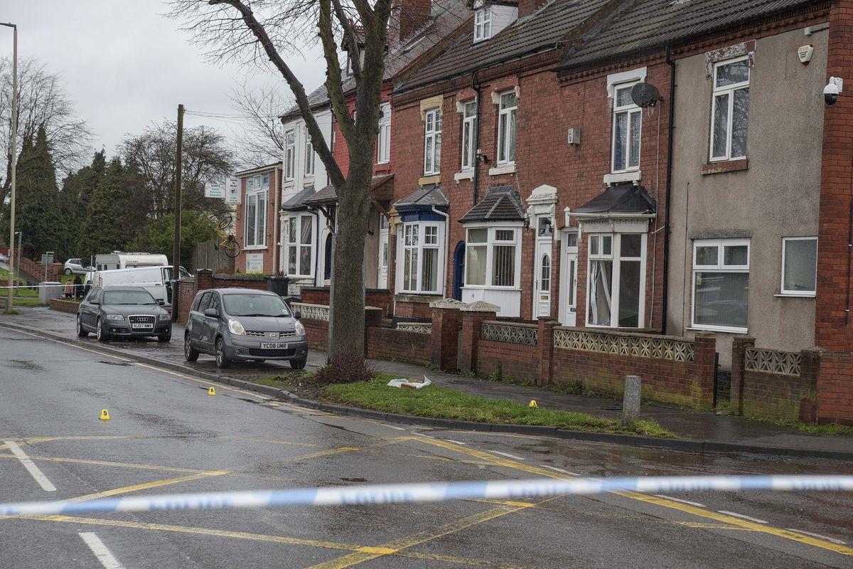 The police cordon on Pensnett Road. Photo: SnapperSK