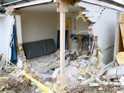 PICTURED: Car smashes into six-year-old's bedroom in Stourport