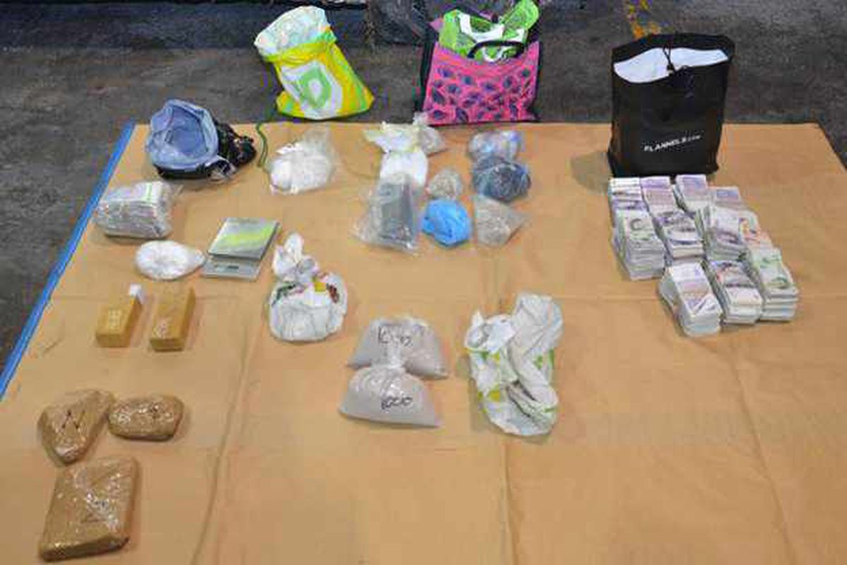 Cash, drugs and paraphernalia recovered by West Midlands Police