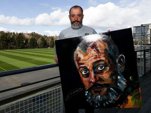 Nuno with the painting