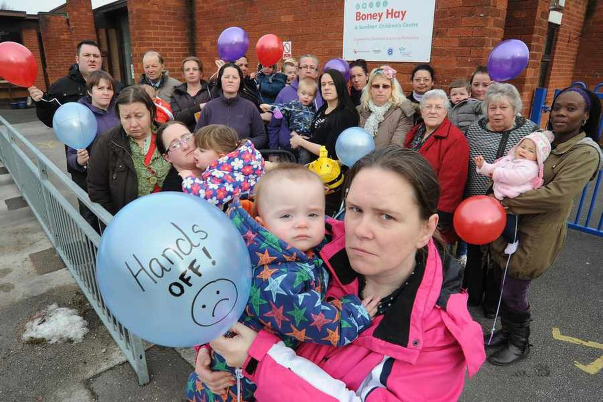 Mothers rescue at-risk Staffordshire children's centres