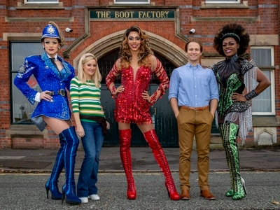 Kinky Boots cast strut to Wolverhampton Boot Factory - in pictures
