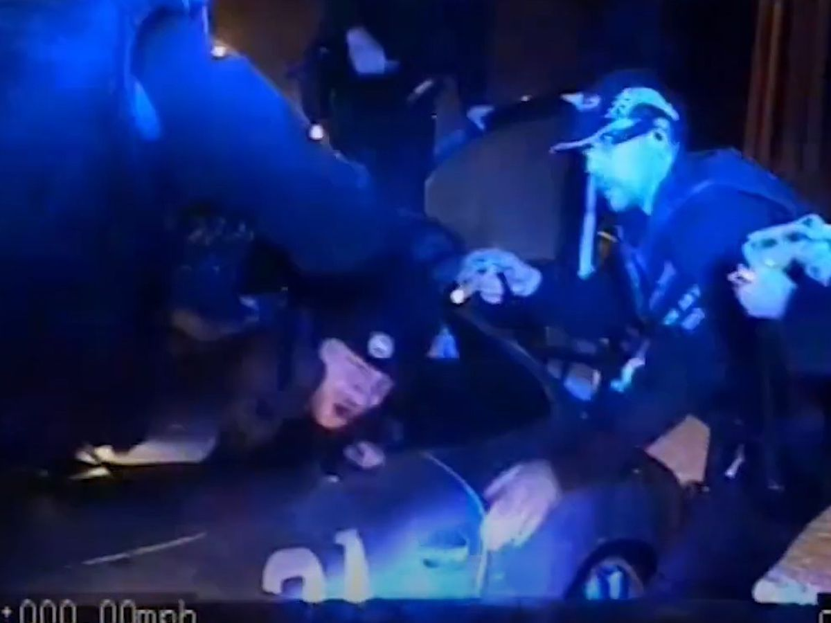 Footage from the dramatic car chase and subsequent arrest by West Midlands Police