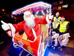 Santa greets families as rotary club takes sleigh on tour of Halesowen and Rowley Regis