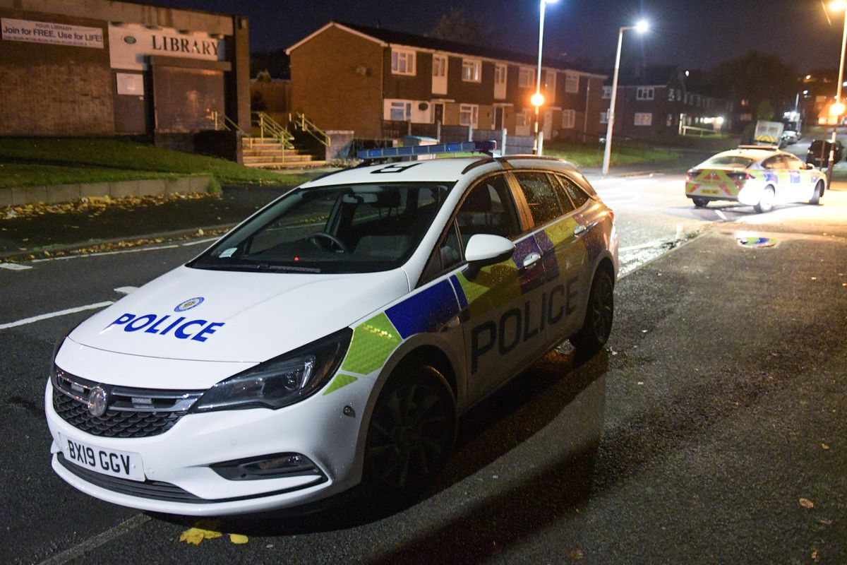 Police cars at the scene. Photo: SnapperSK