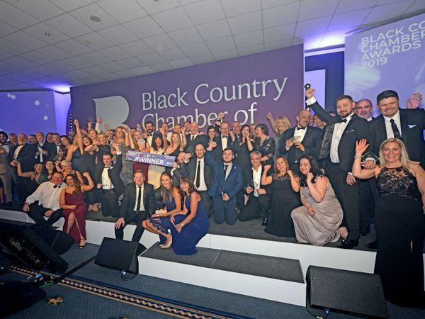 WOLVERHAMPTON NEWS EXPRESS & STAR ( JOHN SAMBROOKS  15/11/2019..This years winners at the The Black Country Chamber Awards, Wolverhampton racecourse..................................................................................................................................................................................................  .............................