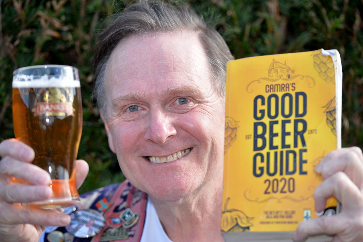Pete Hill from West Bromwich of the Black Country Ale Tairsters will be visiting all the 4,500 pubs in the 2020 CAMRA good beer guide in aid of the Midland Air Ambulance
