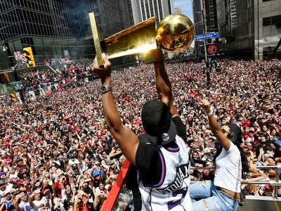 Two wounded as shots fired at victory parade for NBA champions