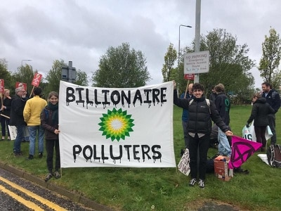 Climate protesters target oil giant's annual meeting