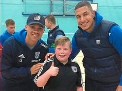 West Brom's Jake Livermore and Kieran Gibbs surprise disabled children