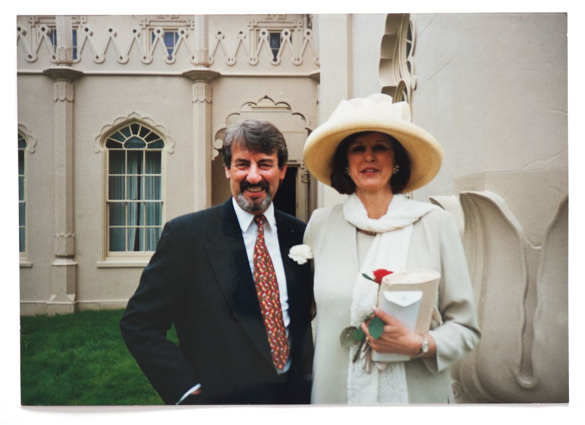 John Challis with his fourth wife, Carol, whom he married two decades ago.