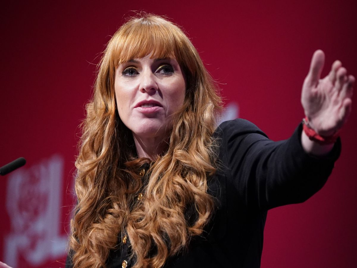 Labour deputy leader Angela Rayner speaks at the Labour Party conference in Brighton