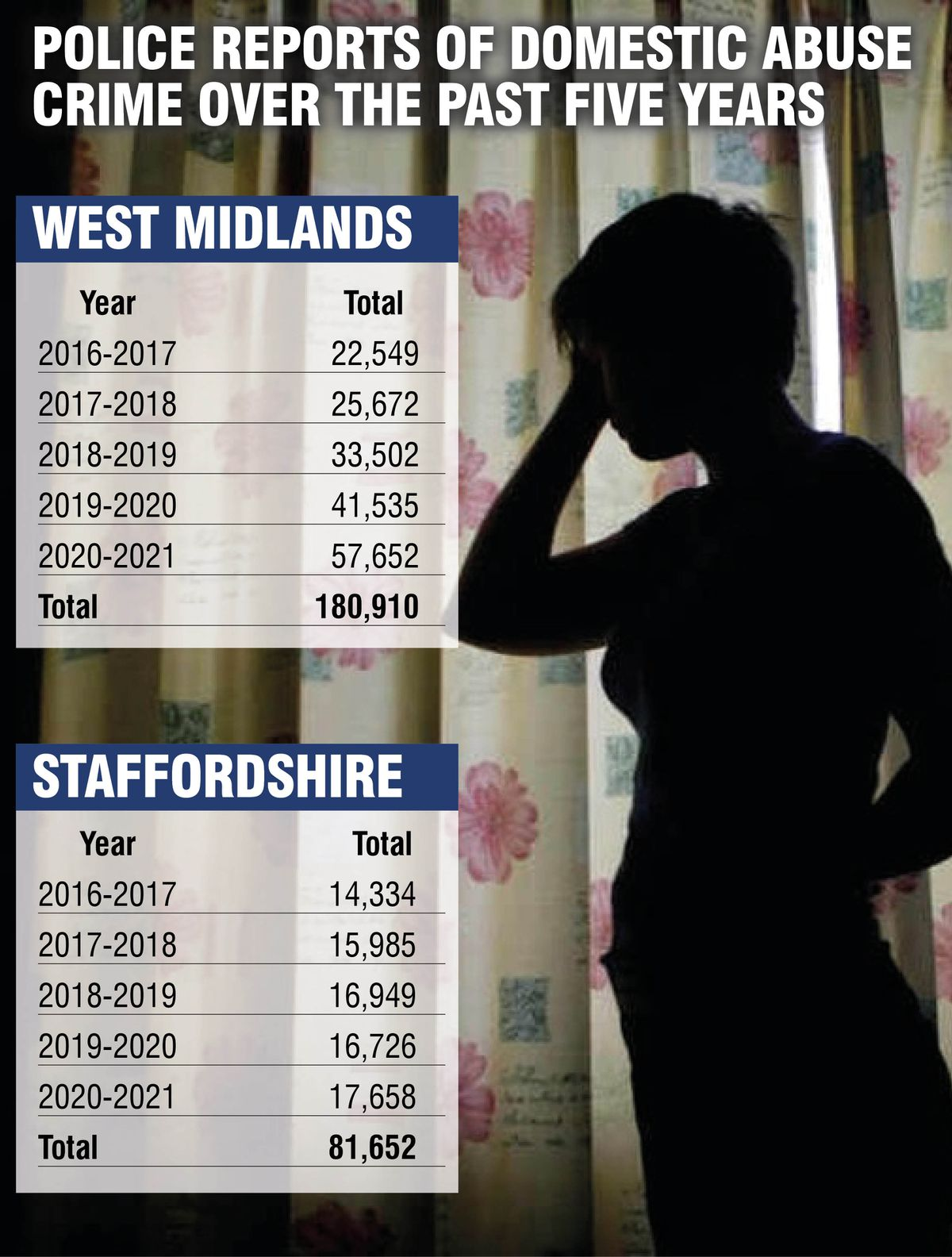 Rise in domestic abuse across the region