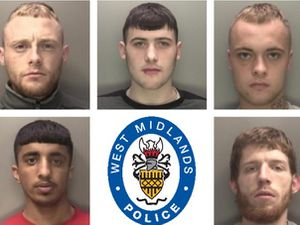 Members of the gang jailed for car key burglaries. Left to right, top: Jordan Timmins, Nathan Sutton, Mitchell Price. Bottom: Husnain Mahmood, Connor Summers