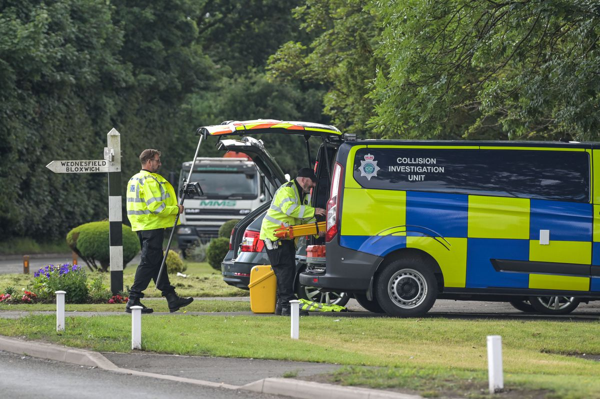 Collision investigators at Cannock Road. Photo: SnapperSK