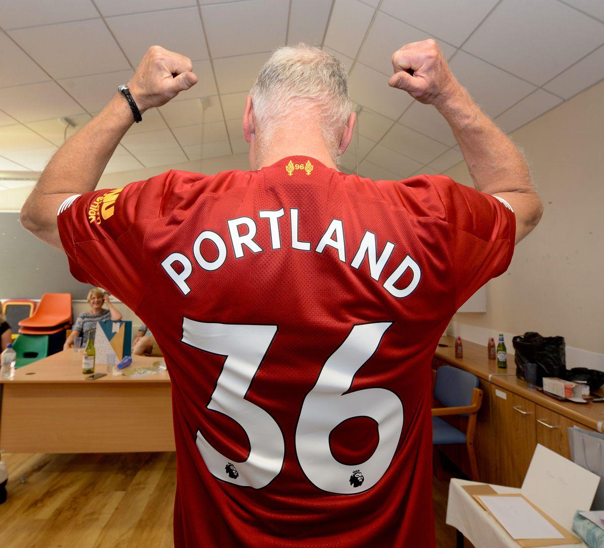 Dr Flenley's special retirement Liverpool shirt