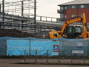 A new Aldi store under construction, at Sun Street, Wolverhampton