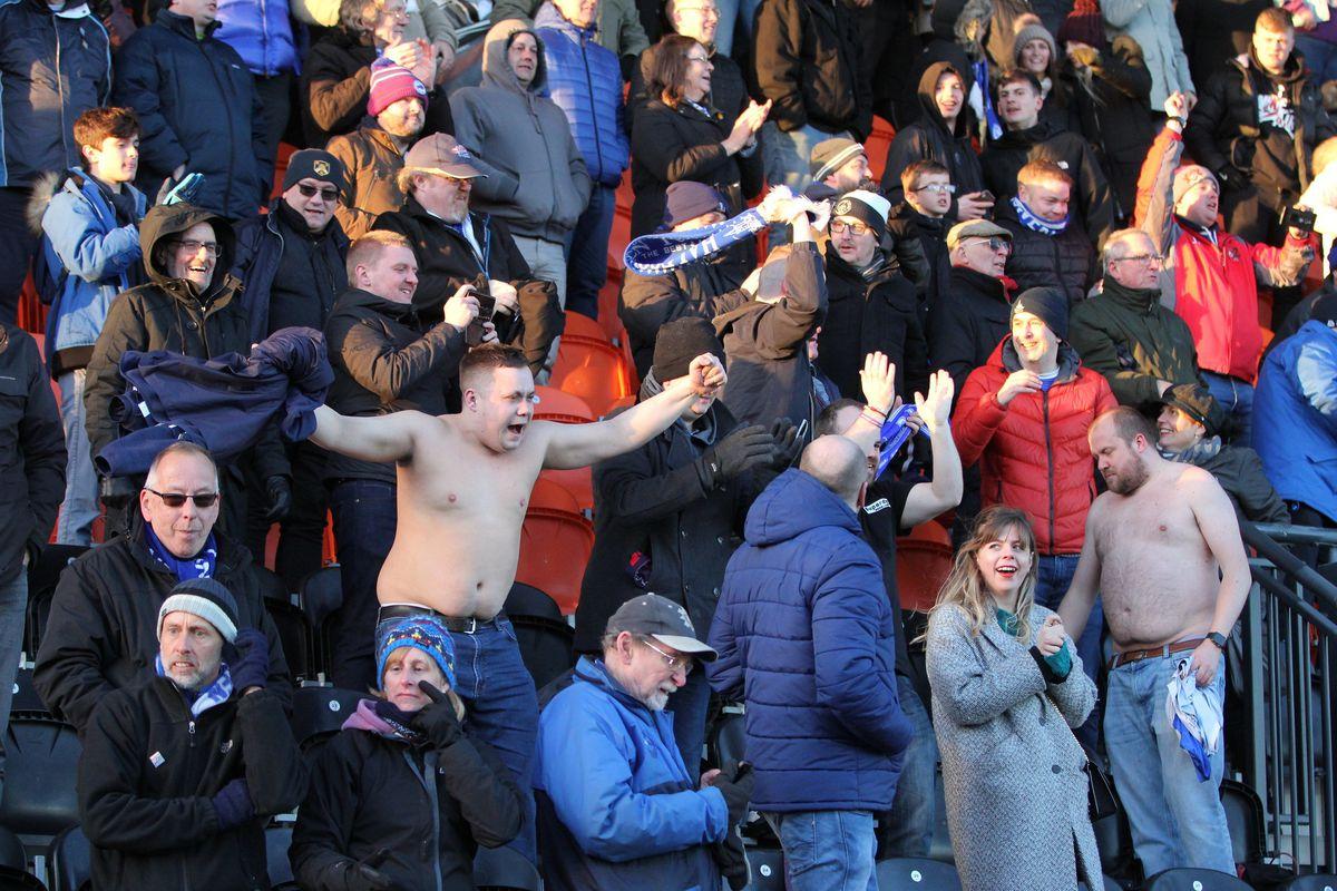 Halesowen Town fans celebrate