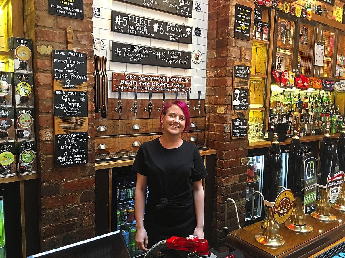 Angel Kelly says the The Hogshead gets rammed and at times sells out of drink