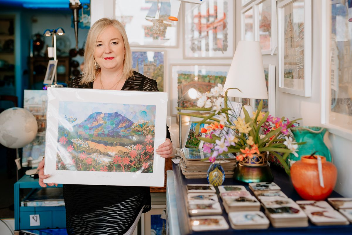 Many of Lyn's pictures have been inspired by Shropshire, Wales or Cornwall