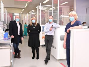 David Purcell (DIS), Cindy Sturdy (Integral), Professor Iain Chapple and Fiona Blair (Birmingham Dental Hospital)