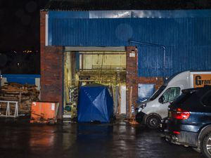 The scene at the industrial unit. Photo: SnapperSK