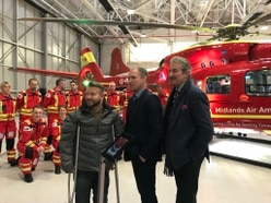 Stars at RAF Cosford for launch of new Midlands Air Ambulance helicopter