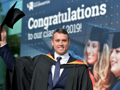 First class effort as Wolverhampton Olympian Kristian Thomas receives degree