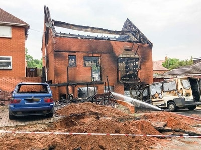 Family flee fire which devastates their house in Kinver