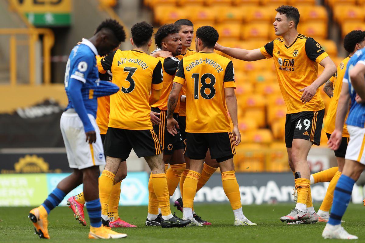 Adama Traore of Wolverhampton Wanderers celebrates after scoring a goal to make it 1-1 (AMA)