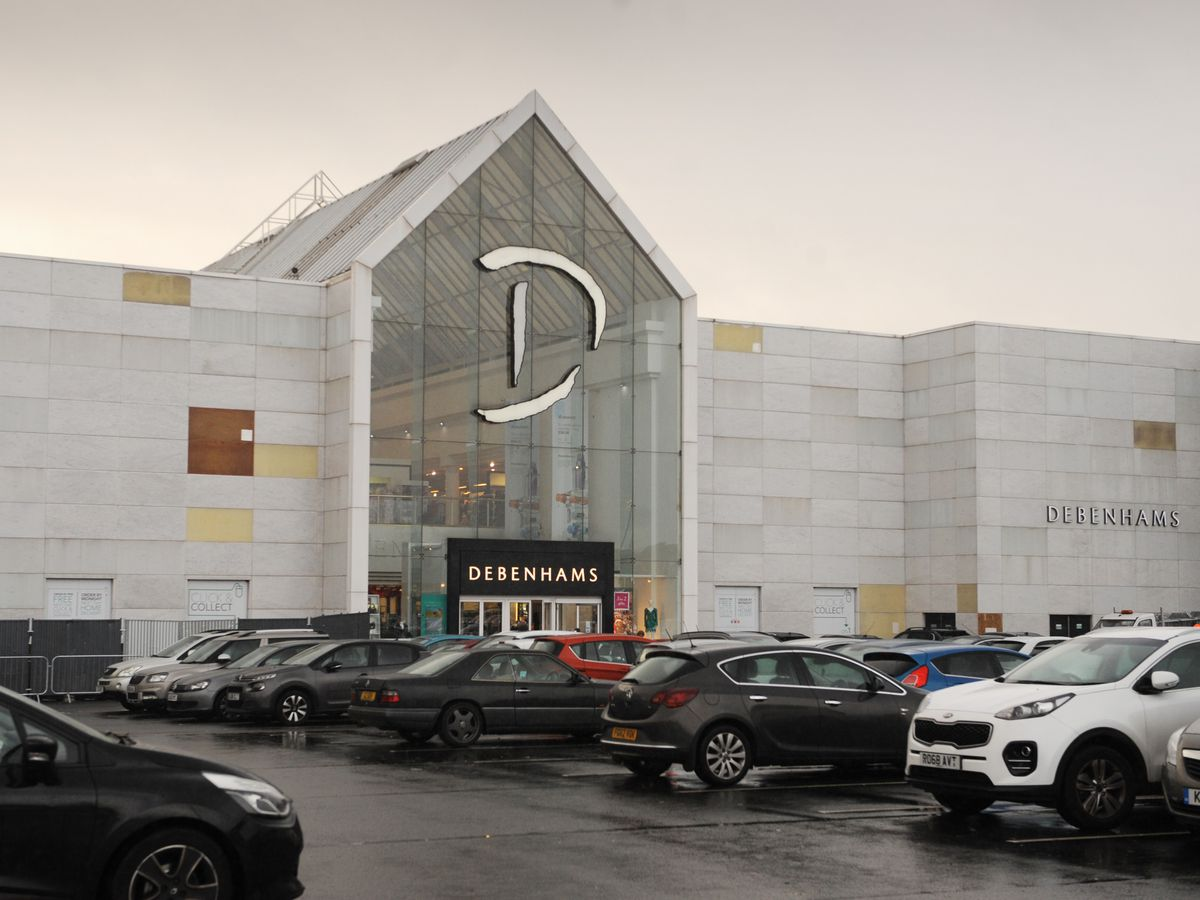 The exterior of Debenhams at Merry Hill has been done up