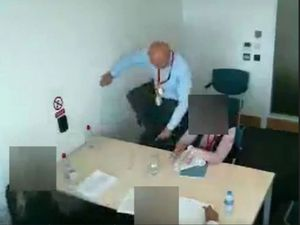 Pc Benjamin Monk demonstrated his kick during interview