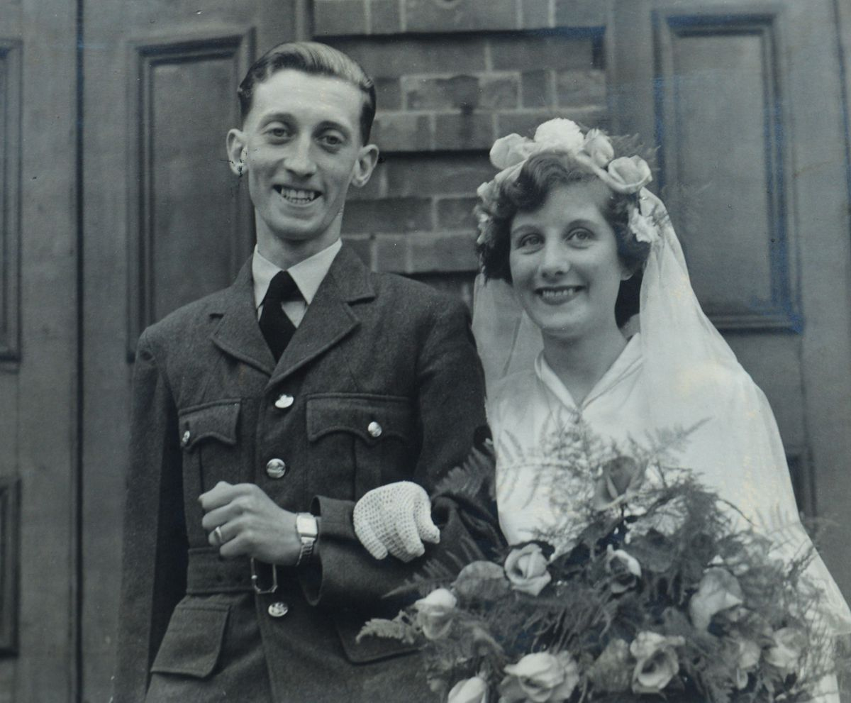 The happy couple on their wedding day in 1951