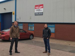 Nick Bryson, of LCP, and Michael Sheen, of RGK Wheelchairs, at the unit the designer and manufacturer will lease at Burntwood Industrial Estate