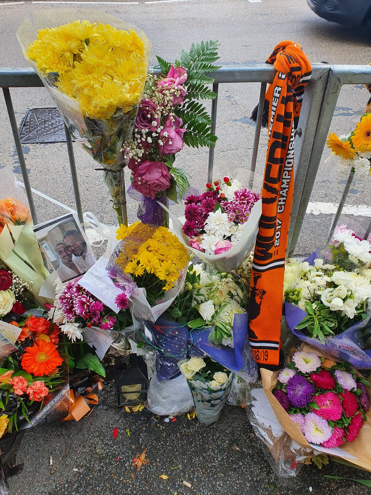 Wolves scarves are among the tributes left for Reece
