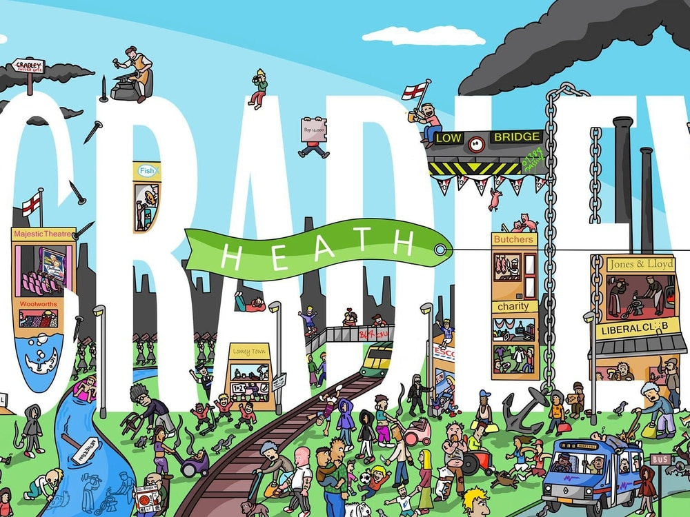 How many Cradley Heath references can you spot in this cartoon?