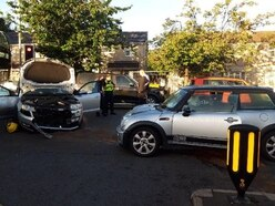 Rush hour delays after Wolverhampton crashes