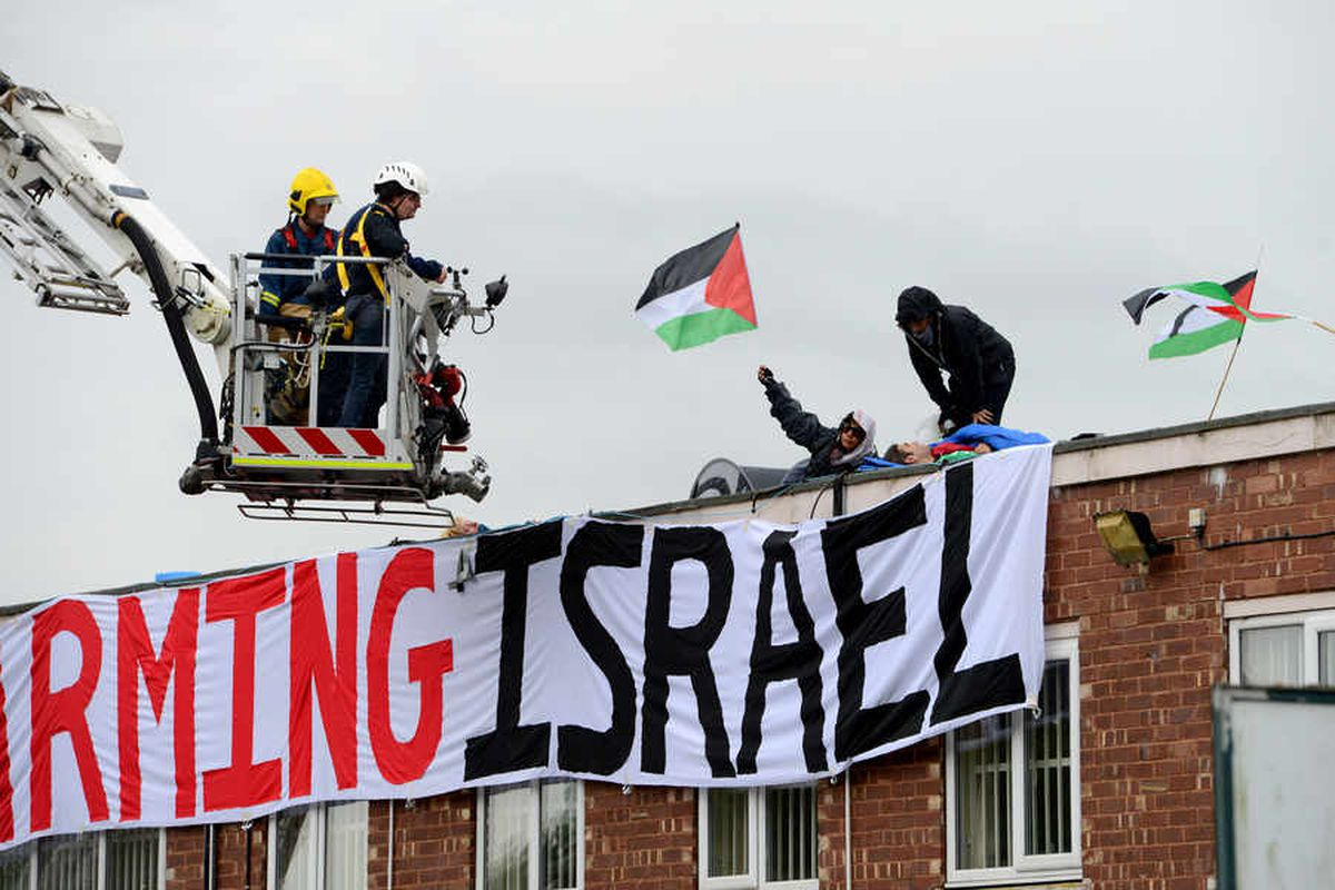 Drone protesters vow to close down Staffordshire factory