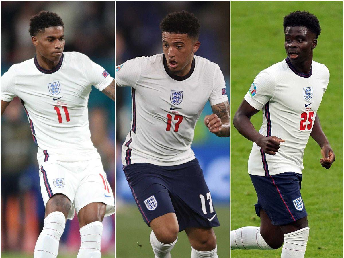 Marcus Rashford, Jadon Sancho and Bukayo Saka were racially abuse after England lost to Italy