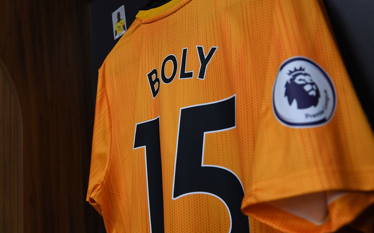 The shirt of Willy Boly of Wolverhampton Wanderers.